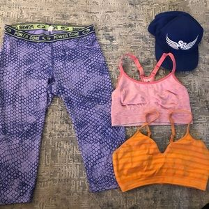 Workout clothes and hat bundle